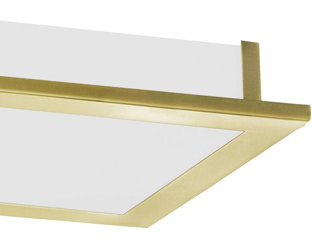 plafonnier luminaire plafond clairage acier verre satin. Black Bedroom Furniture Sets. Home Design Ideas