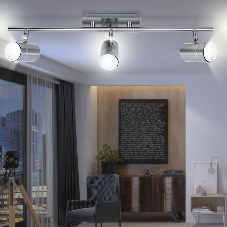 Deckenlampe aus Stahl und GU10 Fassung – Bild 3