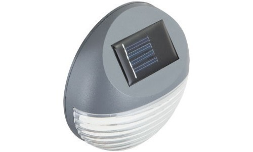 4er Set LED Zaun Solarleuchten aus Kunststoff in Grau – Bild 11