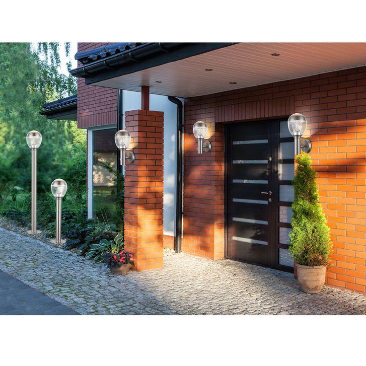 11 Watt LED Außen Wand Leuchte Edelstahl dunkelgrau EEK A+ Garten Globo 34250 CALLISTO – Bild 5