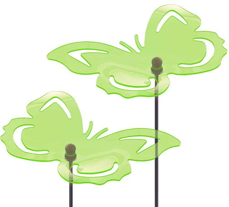 2er Set Dekospieße für den Außenbereich in Schmetterlingform – Bild 1