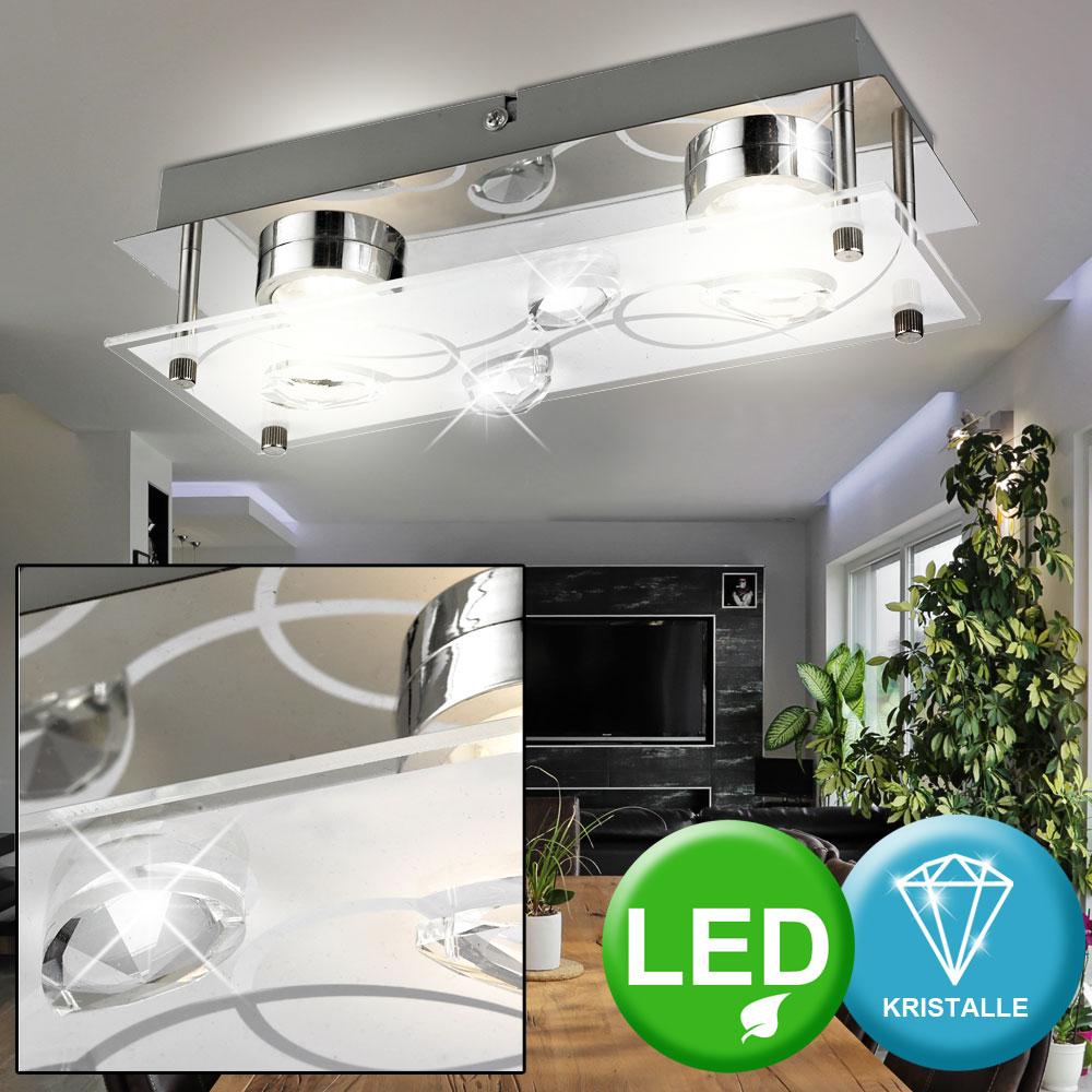 Luxus Wand Spot Glas Chrom Kristalle klar Lampe Leuchte Treppen Haus Flur Diele