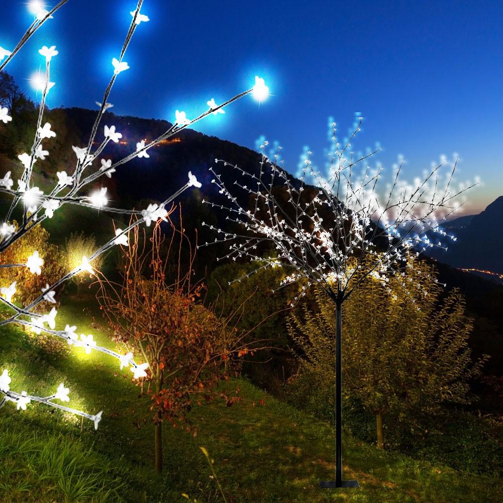 Deko Leuchte 600 X Led Licht Aussen Garten Terrassen Bluten Aste Baum