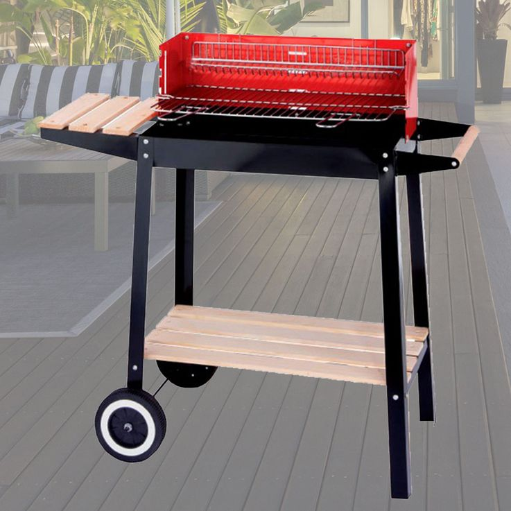 Grill cart charcoal grill barbecue grill charcoal grill rack chrome windscreen of HARMS 504451 – Bild 2
