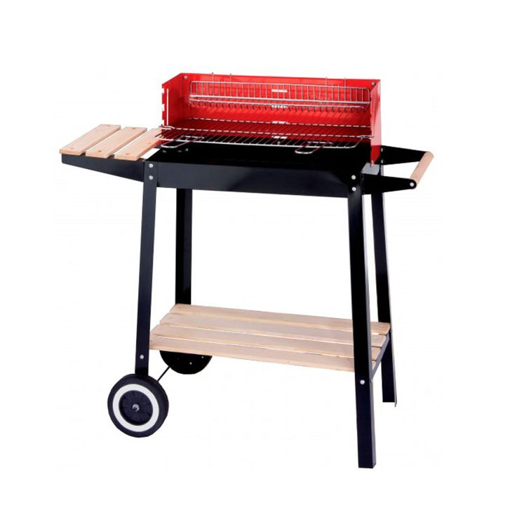 Grill cart charcoal grill barbecue grill charcoal grill rack chrome windscreen of HARMS 504451 – Bild 1