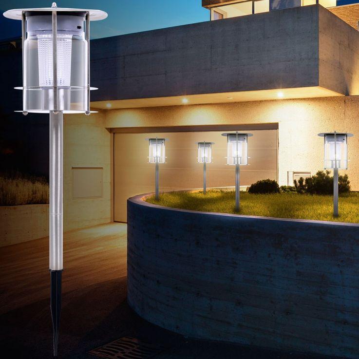 LED Solar Light Floodlighting IP44 Steel Pluglighting Outdoor Light 504638 – Bild 5
