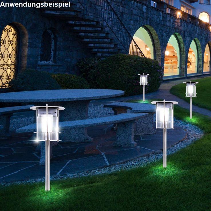LED Solar Light Floodlighting IP44 Steel Pluglighting Outdoor Light 504638 – Bild 3