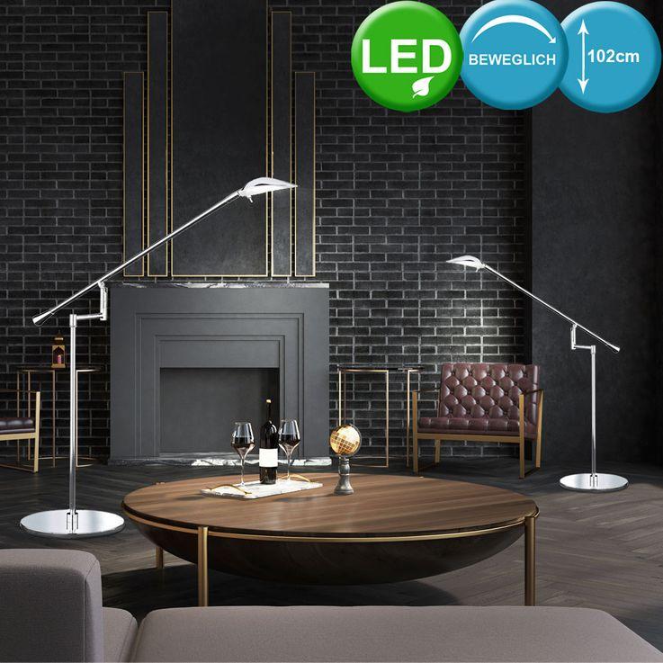 Lampe de table DEL 5 W luminaire bras mobile chrome LED bureau cabinet travail – Bild 4