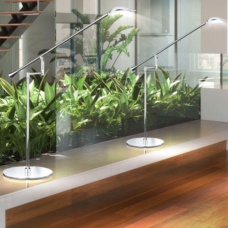 Lampe de table DEL 5 W luminaire bras mobile chrome LED bureau cabinet travail – Bild 5