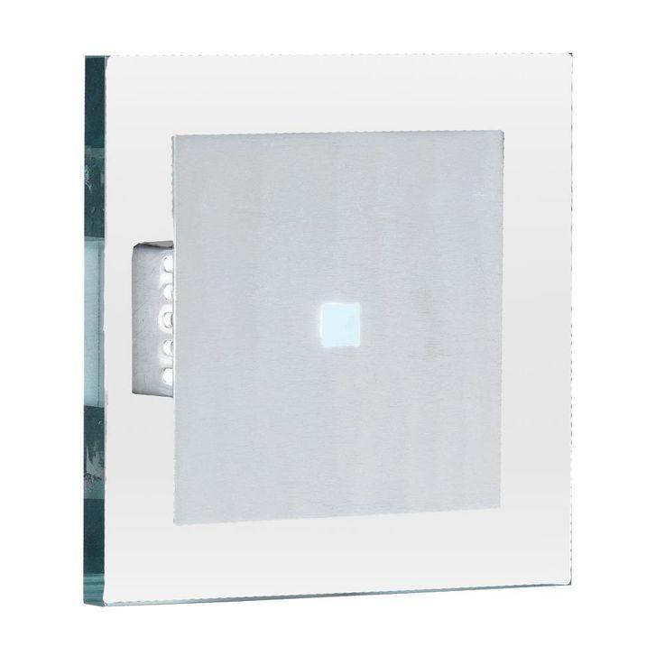 Wandleuchte aus gebürstetem Aluminium und klarem Glas – Bild 1