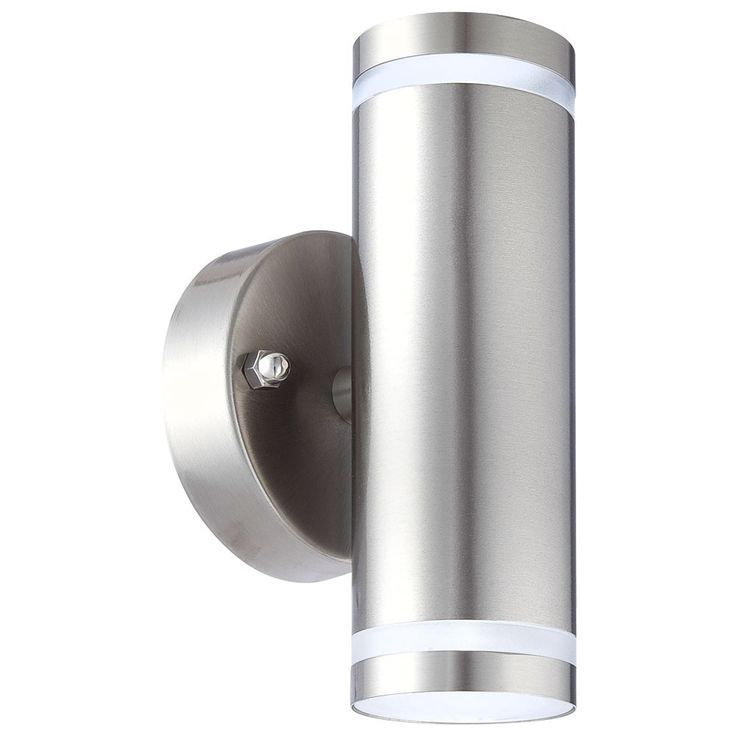 LED outdoor wall lamp stainless steel Up Down garden porch lighting Globo Style 32025-2 – Bild 1