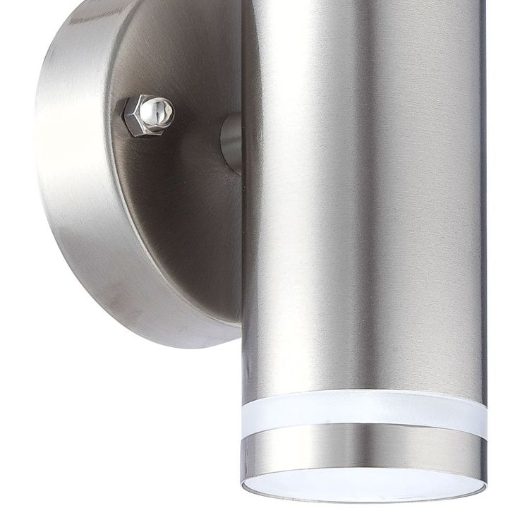 LED outdoor wall lamp stainless steel Up Down garden porch lighting Globo Style 32025-2 – Bild 3