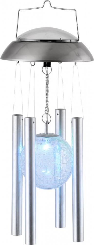 LED Solar Windspiel Lampe Farbwechsler Aluminium