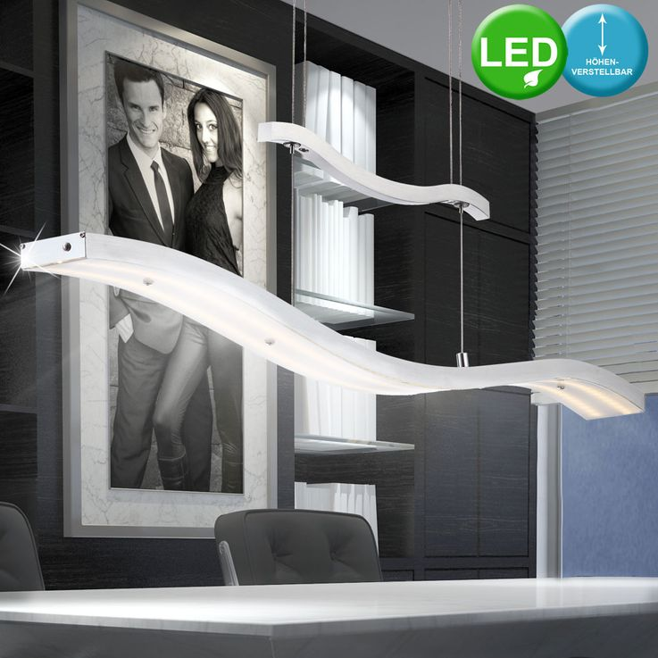 LED 30 Watt Pendel Hänge Lampe 2-flammig Schlafzimmer Aluminium Glas EEK A Globo 68036 – Bild 2