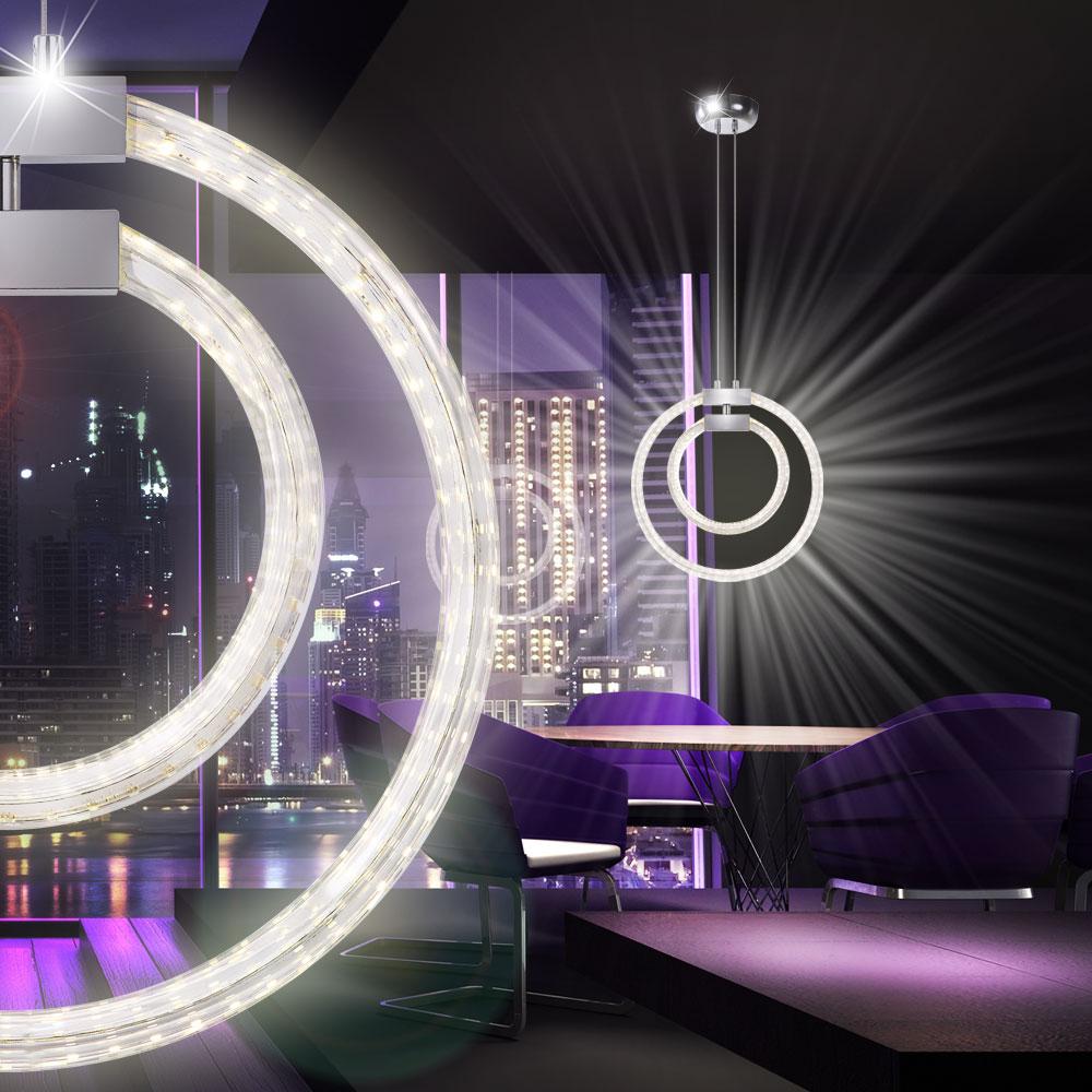30 w led ringe h nge lampe decken wohn ess zimmer leuchte designer beleuchtung ebay. Black Bedroom Furniture Sets. Home Design Ideas