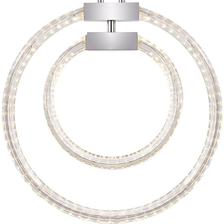 LED 30 Watt Hänge Leuchte Beleuchtung Pendel Lampe Glas klar Chrom Globo 68047-32H  – Bild 6