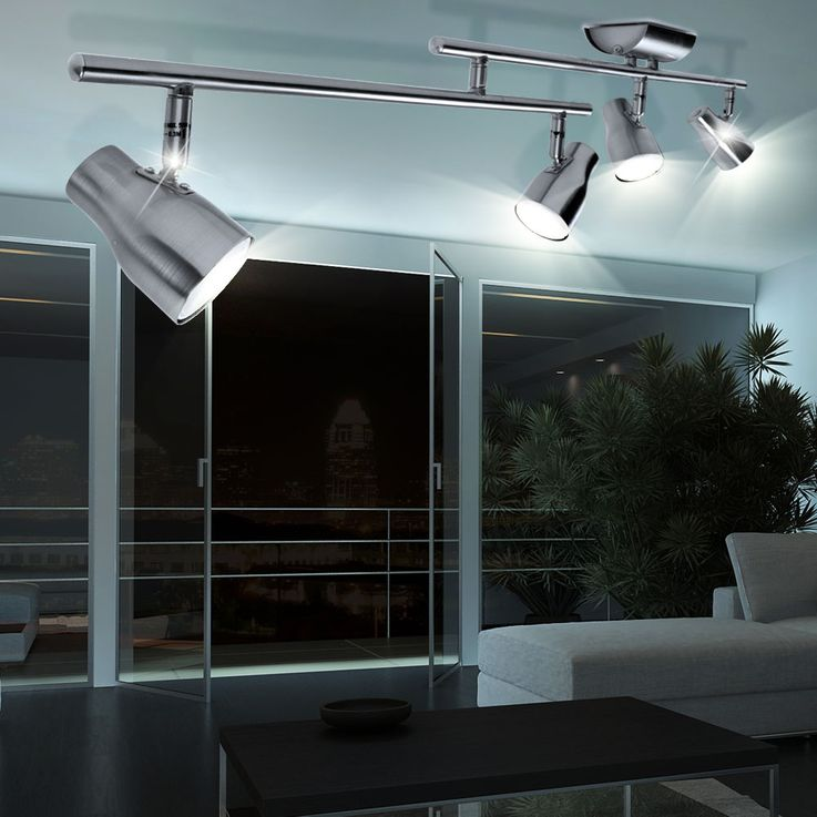 Elegant ceiling light with moving spotlights – Bild 3