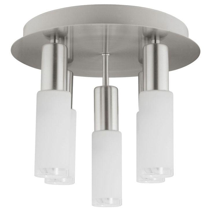 Plafonnier verre rond argenté Eclairage salle à manger 5x E14 ESL Eglo Samanta 90029 – Bild 1
