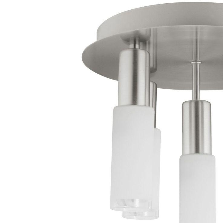 Plafonnier verre rond argenté Eclairage salle à manger 5x E14 ESL Eglo Samanta 90029 – Bild 8