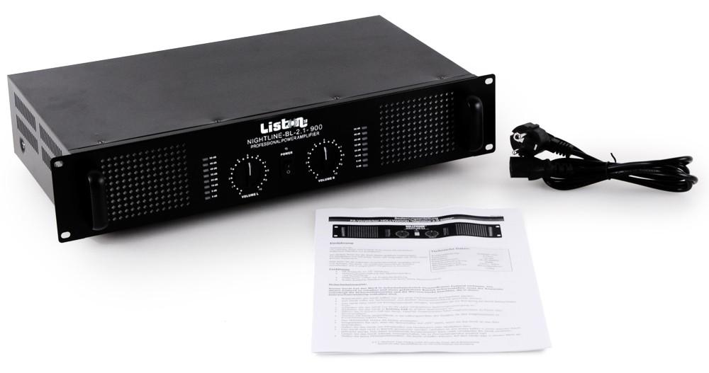 2400 Watt starker Verstärker - Nightline 2.1-900bl – Bild 3