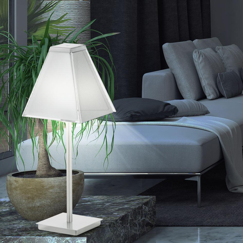 tischleuchte mit satiniertem glasschirm ximena lampen m bel innenleuchten tischleuchten. Black Bedroom Furniture Sets. Home Design Ideas