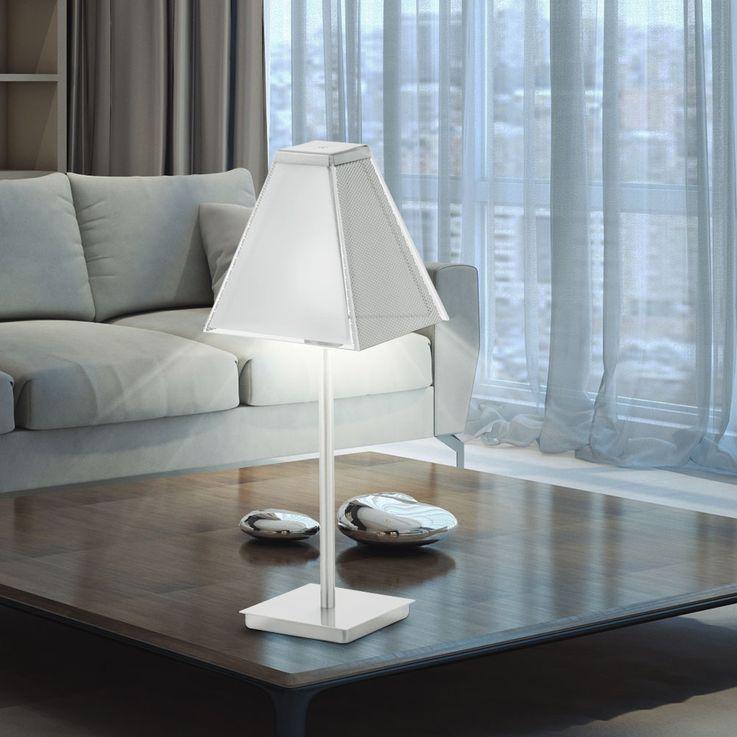 Tischleuchte mit satiniertem Glasschirm XIMENA – Bild 2