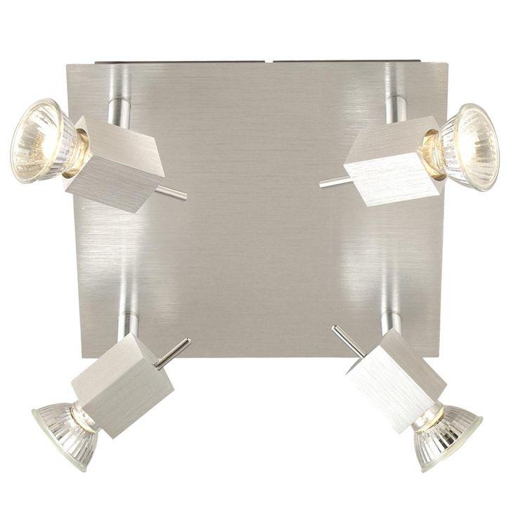 4-lamp ceiling spot spotlight aluminum CAREA – Bild 1
