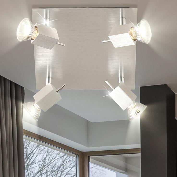 4-lamp ceiling spot spotlight aluminum CAREA – Bild 2