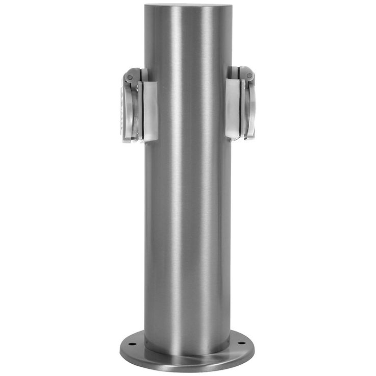 2 x outdoor outlet distribution terrace stainless steel garage IP44 pillar of hilight 103113 – Bild 1