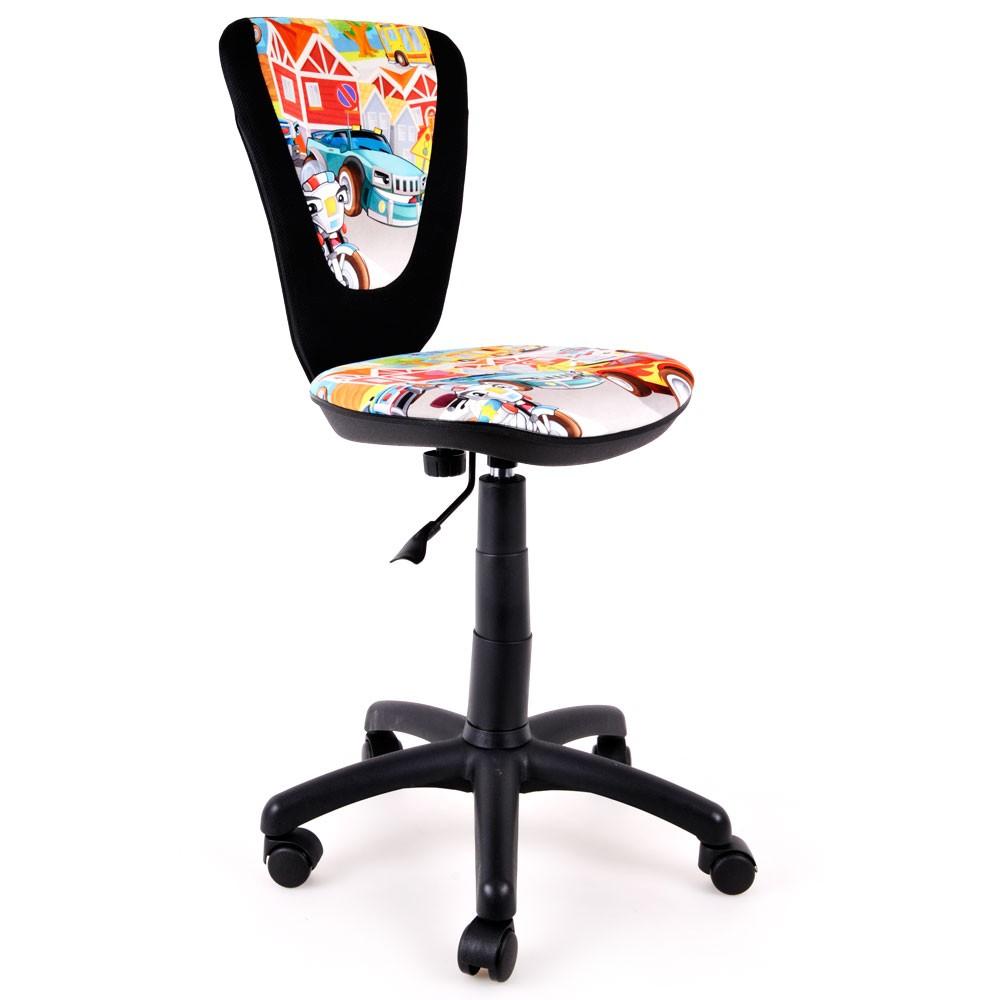 drehstuhl f r jugendliche mit ergonomisch geformter r ckenlehne lampen m bel m bel st hle. Black Bedroom Furniture Sets. Home Design Ideas