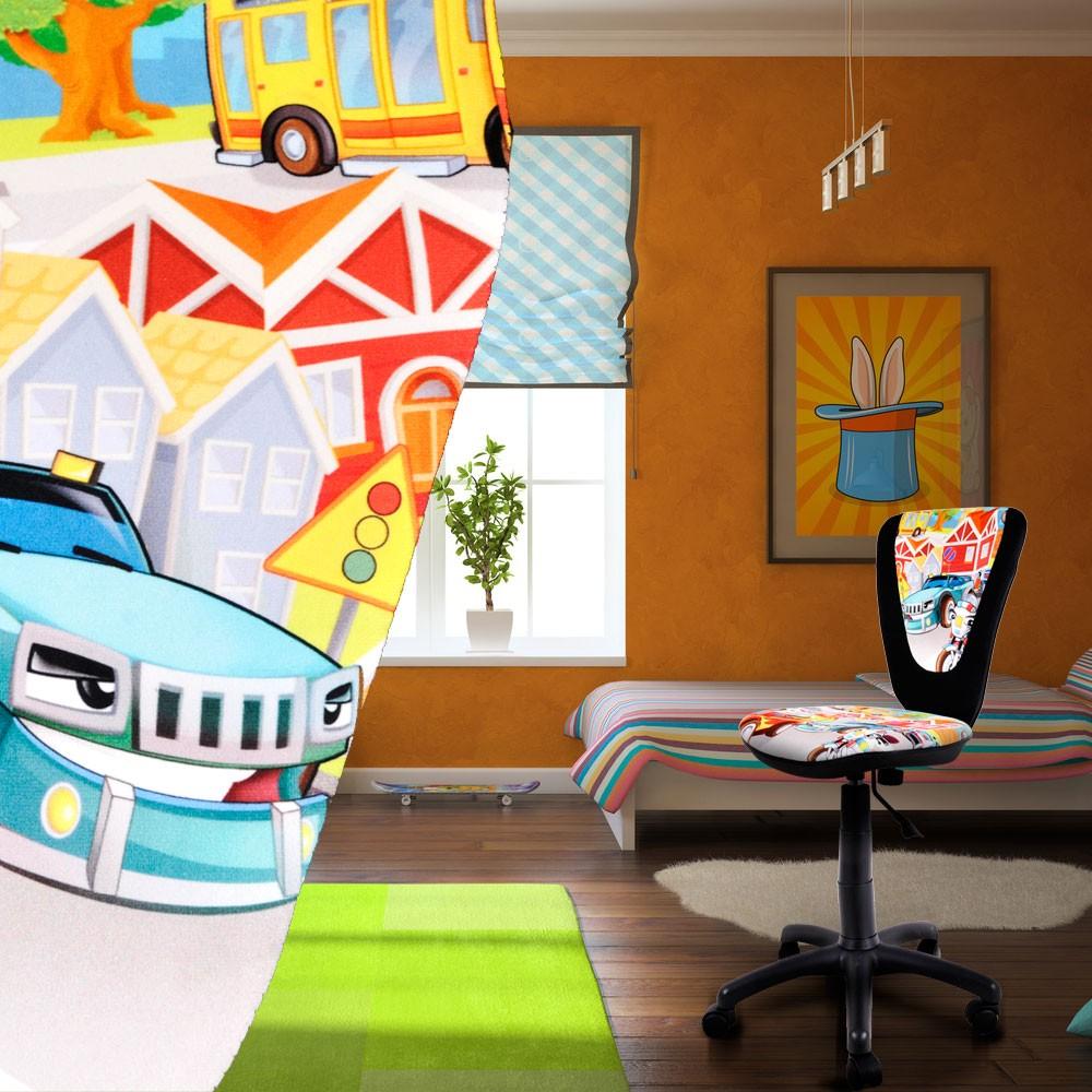 Jugend dreh stuhl schreibtisch sitz b ro kinderzimmer spielzimmer auto design ebay - Kinderzimmer auto design ...