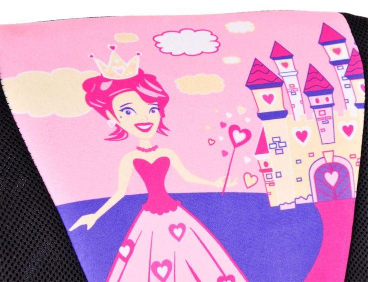 Kinder Mädchen Drehstuhl Büro Sitz Schreibtisch Spielzimmer Stuhl Prinzessin Motiv pink – Bild 3