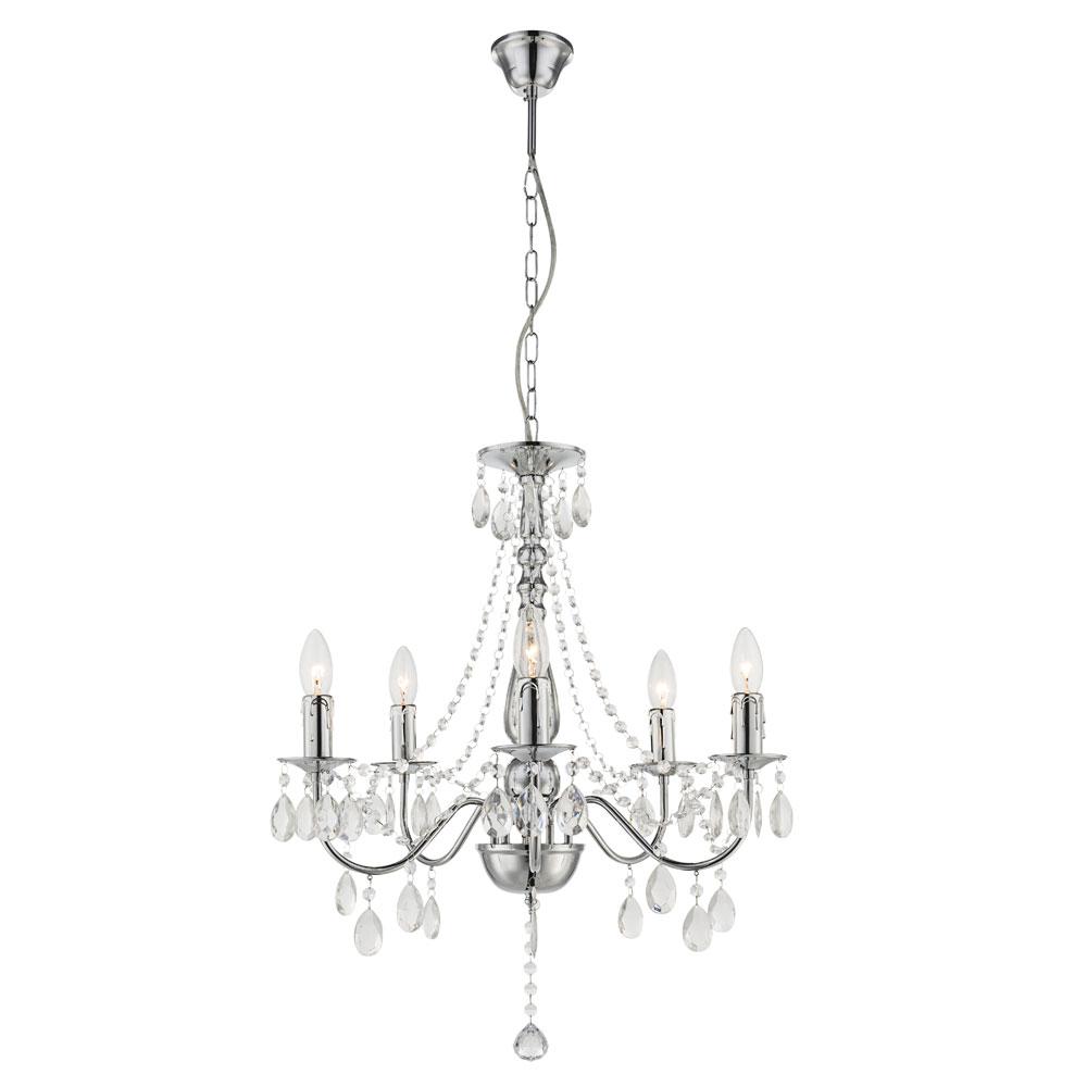 eleganter kronleuchter mit acryl kristallen lampen m bel. Black Bedroom Furniture Sets. Home Design Ideas