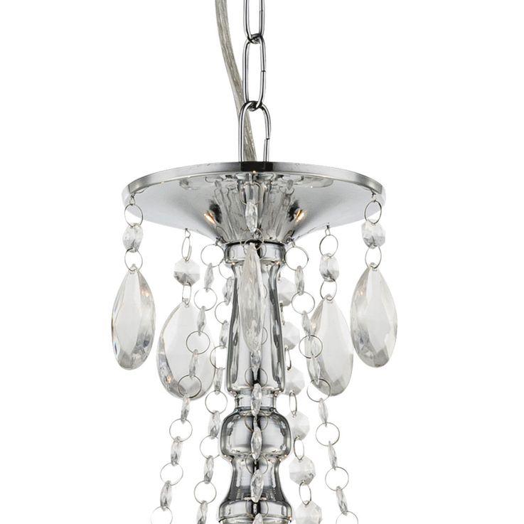 Chandelier hanging lamp lighting acrylic crystals decor clear Globo 63129-5 – Bild 6