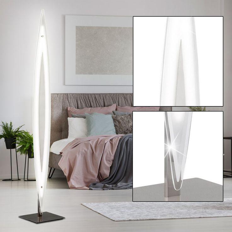 LED 27 Watt Steh Lampe 3-Stufen Touch Dimmer Couch Stand Leuchte Glas EEK A WOFI 3275.01.64.0000 – Bild 3