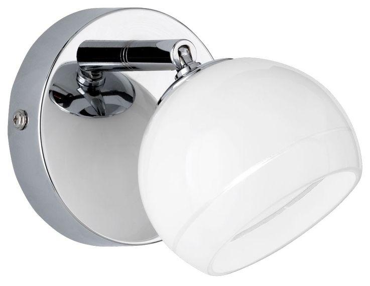 Applique spot mobile lampe luminaire mural chrome verre opale couloir chambre – Bild 1