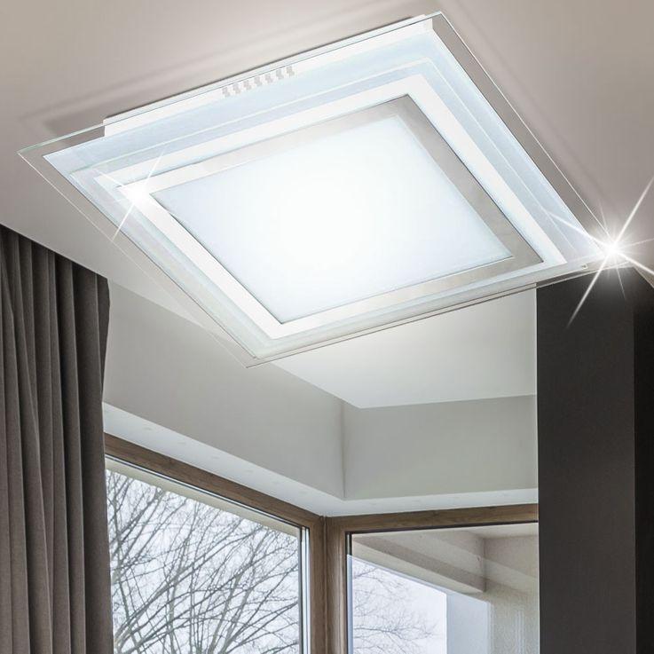 Luxe LED plafond lumière chambre verre projecteurs lampe Chrome couloir EEK A + Wofi 9276.01.01.1300 – Bild 6