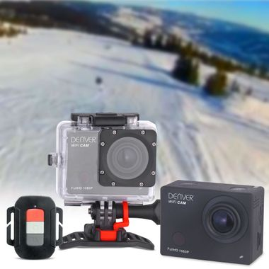 Full HD Action Cam WIFI Video Foto Bild wasserdicht Fernbedienung Denver ACT-8030W – Bild 2