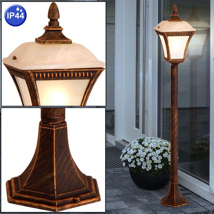 Outdoor floor lamp black matt glass lamp Alabaster optic garden aluminum floor lamp Globo 31593 – Bild 2