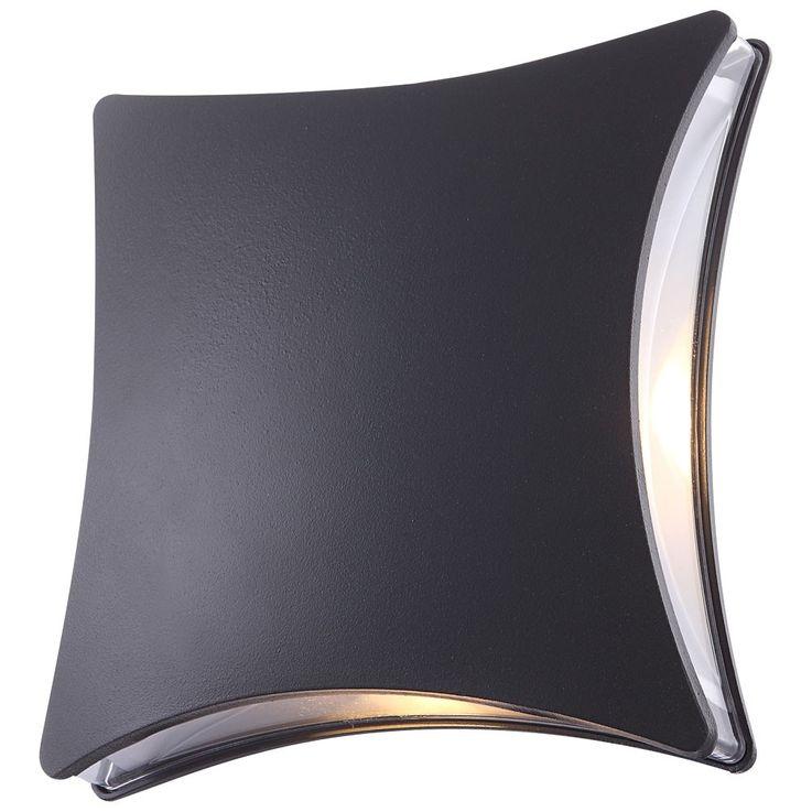 LED 5 Watt Wall lamp outdoor House door lighting square clear die-cast Globo 34155 – Bild 3