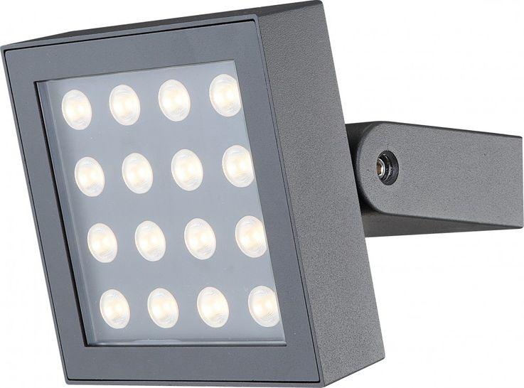 Praktische LED Außenleuchte Aluminium dunkelgrau Glas klar 16W  - Globo TASILLA 34261 – Bild 2