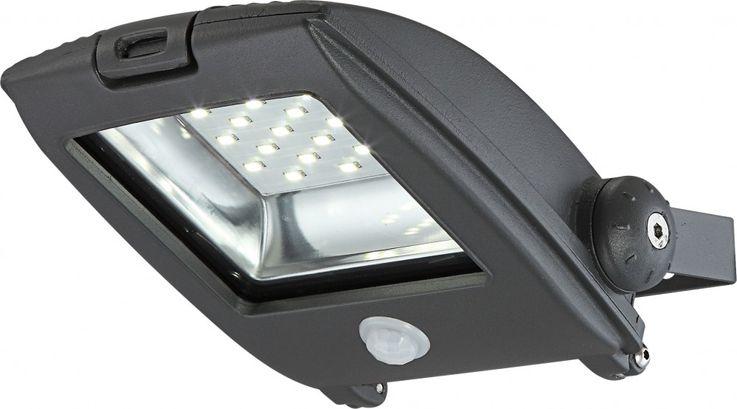 High-quality LED building lighting aluminium grey Diecast 10W - Globo 34218 clear glass – Bild 4