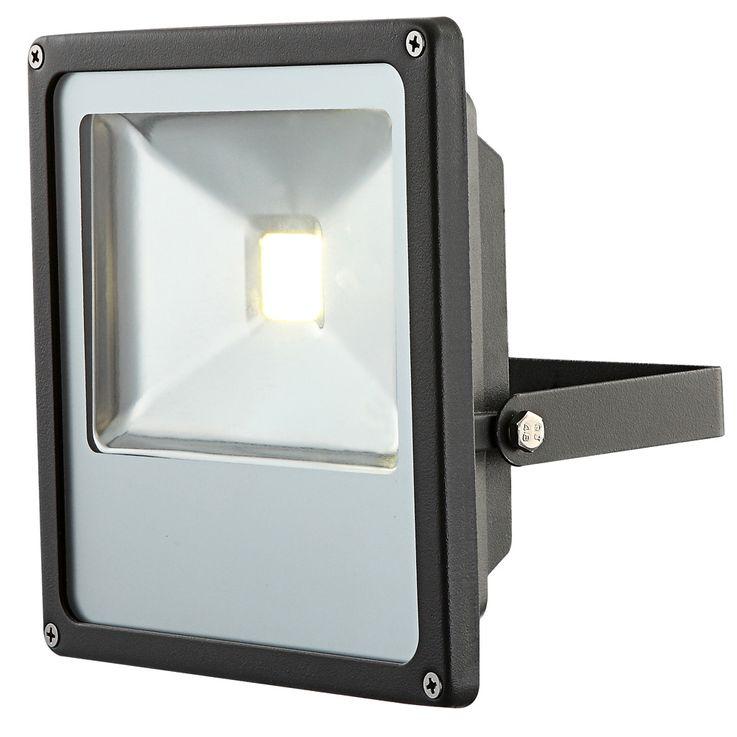 LED outdoor area wall construction spotlights patio lamp garden ALU light black  Globo 34227 – Bild 1