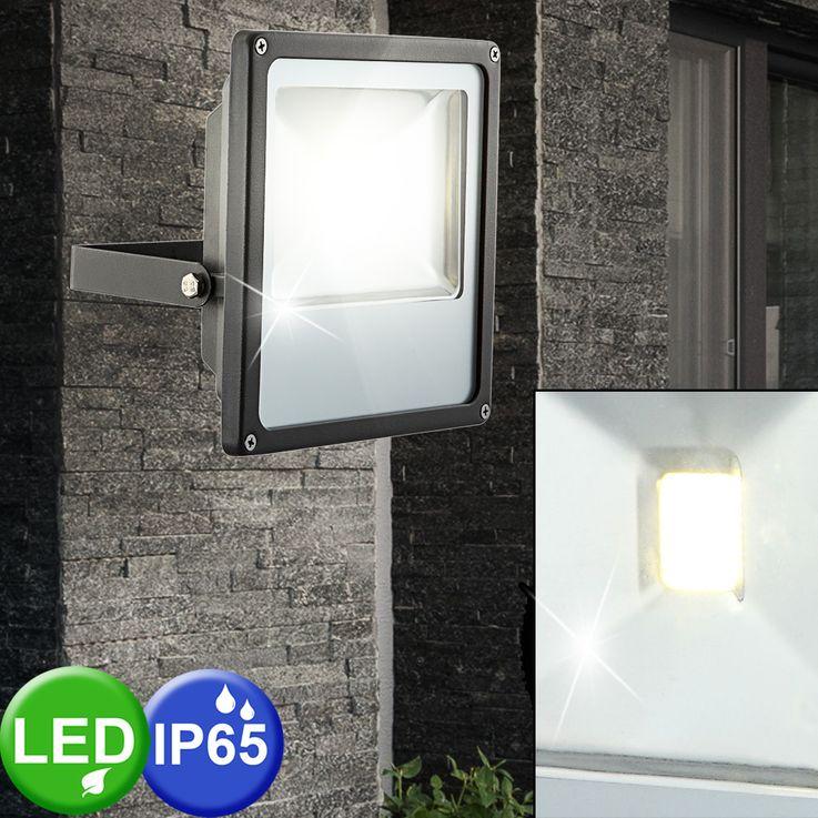 LED outdoor area wall construction spotlights patio lamp garden ALU light black  Globo 34227 – Bild 2
