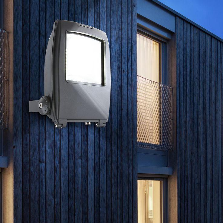 High-quality LED building lighting aluminium grey Diecast 40W - Globo 34220 clear glass – Bild 2