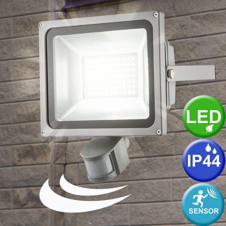LED construction wall spotlight outdoor lighting lamp motion detector diecast luminaire Globo 34104S – Bild 2