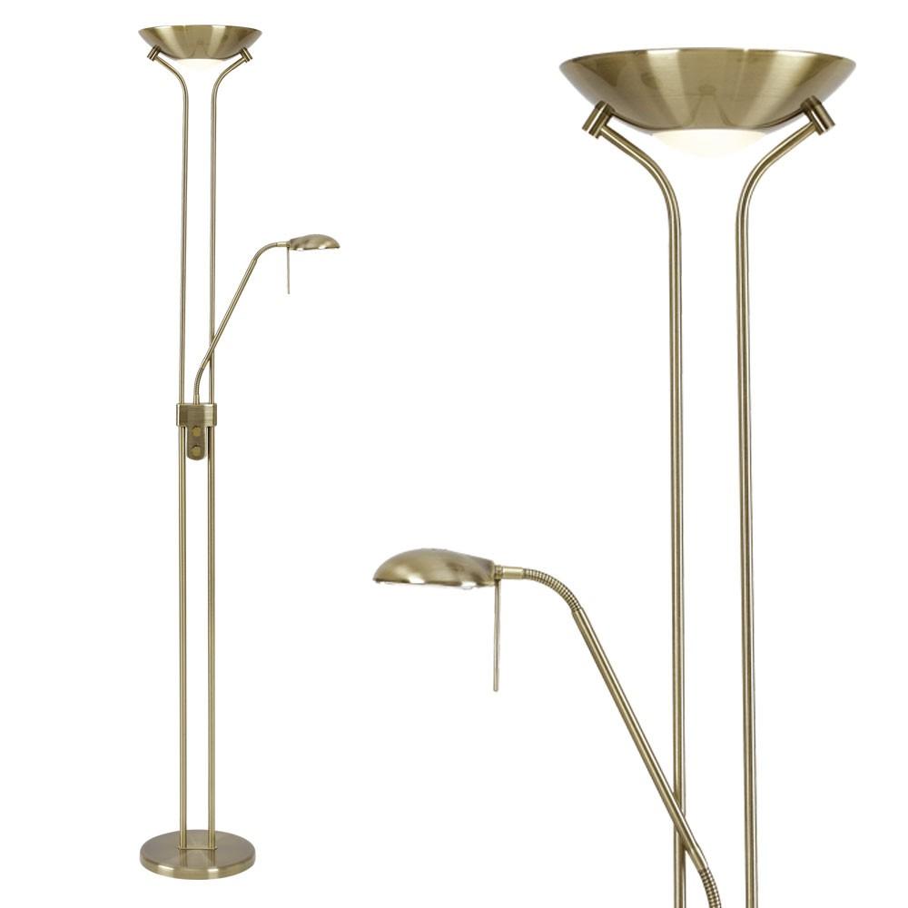 decken fluter dimmbar glas wohnzimmer steh lese lampe. Black Bedroom Furniture Sets. Home Design Ideas