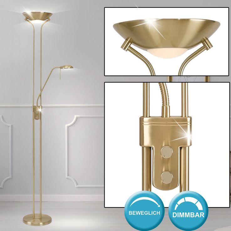 Ceiling floodlight Reading lamp Stand Lighting Lighting Stand Lamp Altmessing  Globo 5809 – Bild 2
