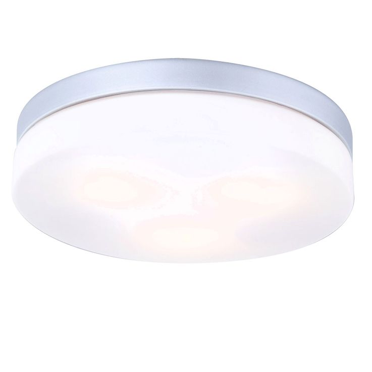 Design Exterior lighting Ceiling lamp Glass opal round ALU silver metallic IP44 Lamp Globo 32113 – Bild 1