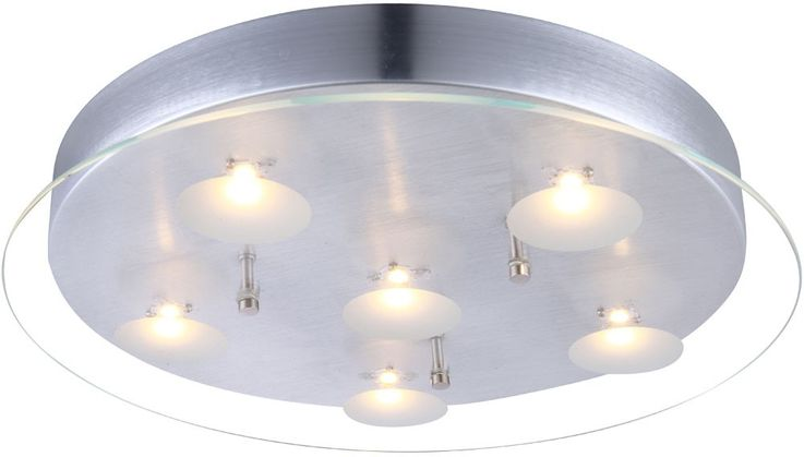 Ceiling lighting with satin glass aluminium – Bild 1